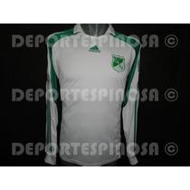 Jersey Deportivo Cali Adidas Copa Mustang Blanco Manga Larga