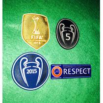 Parches Del Barcelona Campeon Del Mundo Y Champions League