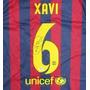 Jersey Autografiado Firmado Xavi Barcelona España Nike