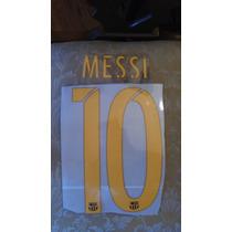 Numeracion Barcelona Local 2015-16 Messi Suarez
