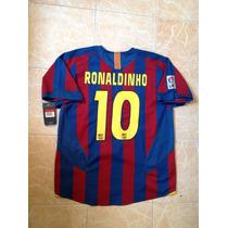 Barcelona Ronaldinho Nike 2006 Talla Xl Original Colección