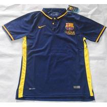 Oferta Camiseta Tipo Polo Barcelona Azul Marino 2015-16 En M