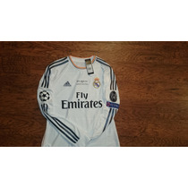 Jersey Real Madrid 2014 Final Champions League Manga Larga