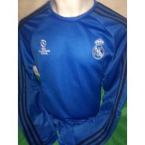 Sudadera Real Madrid Champions League 2016 Azul