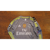 Jersey Real Madrid 16 Champions Visita Manga Larga Original