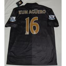 Jersey Manchester City Premier League Kun Aguero 16