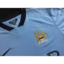 Jersey Manchester City Local Azul 2014 Talla L