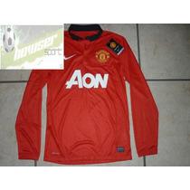Jersey Nike Manchester United Inglaterra Manga Larga 13-14
