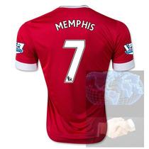 Jersey #7 Memphis Manchester United Rojo Adidas 2016 Roja Pl