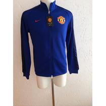 Chamarra Trackjacket N98 Manchester United Azul 2015 Nike