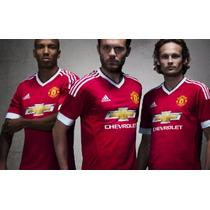 Paquete 5 Unif Man United + Short + Medias + Numero Local 16