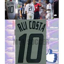 Estampado Ac Milan Visita 2003 Champion, #10 Rui Costa,vinil