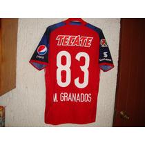 Jersey Chivas Rojo 2016 Granados #83 Utileria Adizero Match