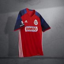 Jersey Chivas Roja 2015-2016 Bravo, Gullit, Orbelin, Chofis