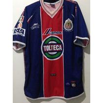 Jersey Chivas ,atletica, Manga Corta, Talla L, Año 2001