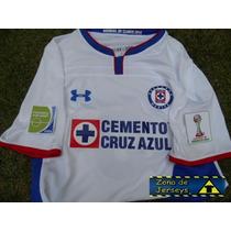Jersey Cruz Azul Con Parches Mundial De Clubes 2014 Visita ¡