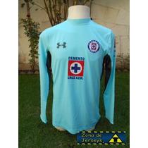 Jersey Cruz Azul Under Armour Portero Azul Versión Jugador