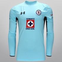 Jersey Cruz Azul Portero Azul Jugador Under Armour 2014-15