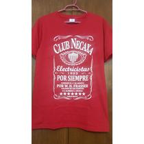 Camiseta Algodon Rayos Del Necaxa Whisky Talla Chica