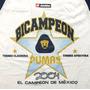 Playera Unam 2004 Pumas Bicampeon