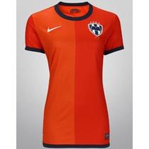 Jersey Nike Del Monterrey De Visita Naranja De Dama