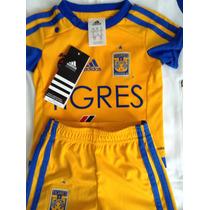 Tigres Uanl Kit Bebe Oficial 4 Estrellas Adidas Original