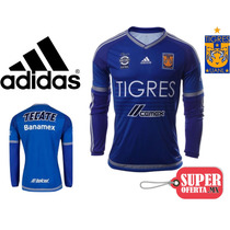Jersey Tigres Manga Larga Uanl Nuevo Original Adidas