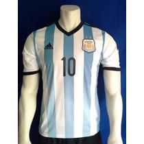 Playera Selección Argentina, Messi Mundial Brasil 2014 Vbf.