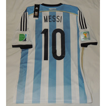 Jersey Seleccion Argentina Lionel Messi 10 Mundial 2014
