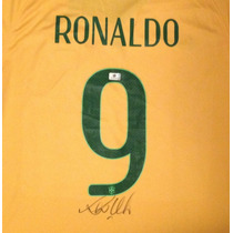 Jersey Autografiado Firmado Ronaldo Seleccion Brasil Neymar