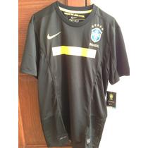 Jersey Brasil Negro 2011 Nike Talla M Nuevo Con Etiquetas