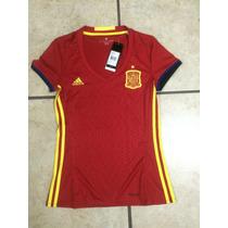 Jersey Adidas Seleccion De España 100% Original 2016*d Mujer
