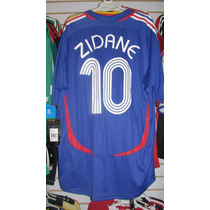 Playera Adidas De Francia Mundial 2006 Tipografia Zidane