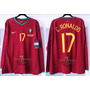 Portugal *utileria* 06-07 Manga Larga Ronaldo 100% Autentica