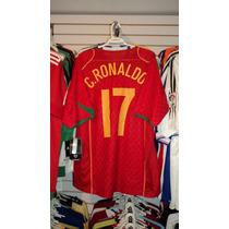 Playera Nike De Portugal Tipografia De Cristiano Ronaldo Xl