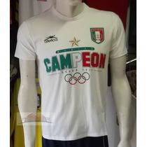ºº T-shirt Conmemorativa Campones Olimpicos Blanca ºº