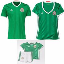 Jersey Playera Mexico 2016-2017 Copa Hombre, Mujer Y Niño
