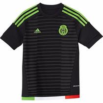 Jersey Oficial Selección México 2015-2016 Manga Corta Negra