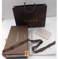 Gucci Caja Original P/ Calzado C/bolsa De Asa Fotos Reales