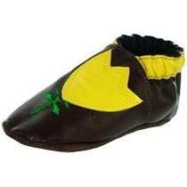 Zapato De Piel Café Modelo: Tu301-03 Talla 0 - 3 Meses