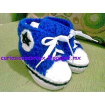 Tenis De Bebe Tejidos A Mano Moda Crochet Curiosicosas Roux