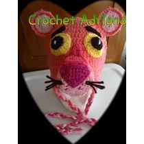 Gorro Pantera Rosa Crochet Tejido Op4