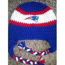Gorro Casco Nfl Patriots Seattle Crochet Tejido A Mano