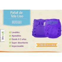 == Pañales Ecopipo Morado Unitalla 0-3 Años Liso ==
