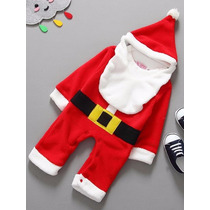 Traje De Santa Claus Calidad Edades 0-6 Meses Envio Gratis