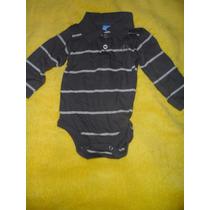 Pañalero Bebe Niño Tipo Camiseta Manga Larga Cuello Alto