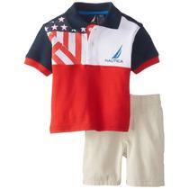 Ituxs I Nautica Conjunto Tshirt-short Nuevo I Envío Gratis