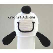 Gorro Crochet Snoopy