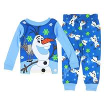 Pijama Camisa Pantalon Disney Olaf Frozen T 3 Envio Gratis