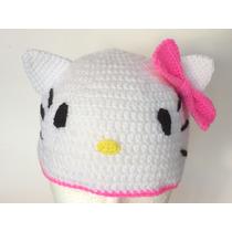 Gorro Tejido A Mano De Hello Kitty